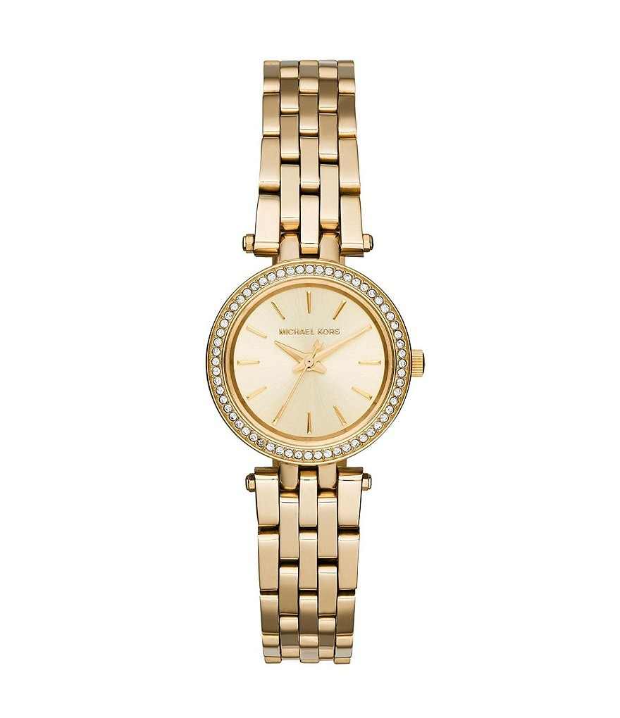 Michael Kors Gold Tone Petite Stainless Steel Darci Watch