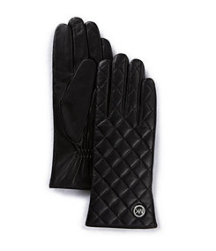 Michael Kors Quilted Leather Gloves