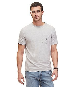 Nautica Short-Sleeve Crewneck Pocket Tee