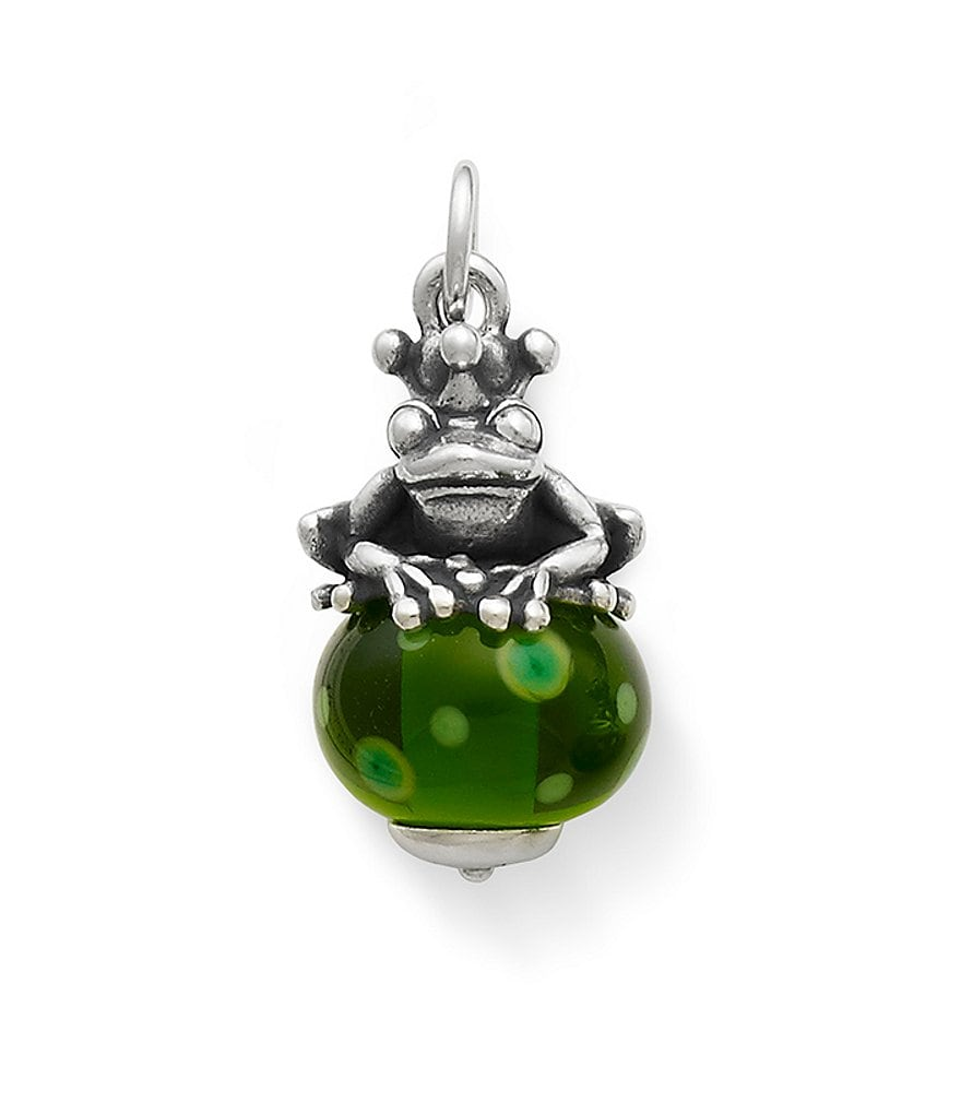 James Avery Frog Prince Finial with Green Charm