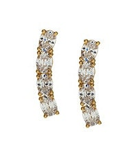 Nadri Linear East/West CZ Stud Earrings
