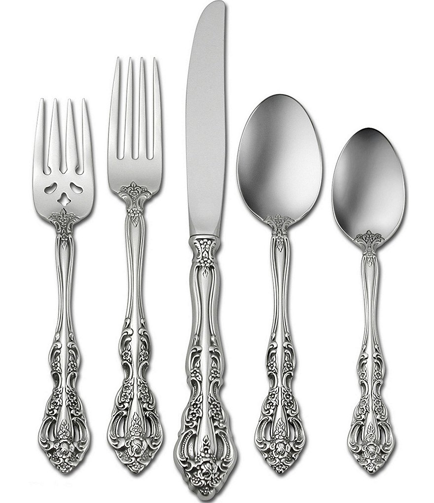 Oneida Michelangelo Traditional 20-Piece Stainless Steel Flatware Set