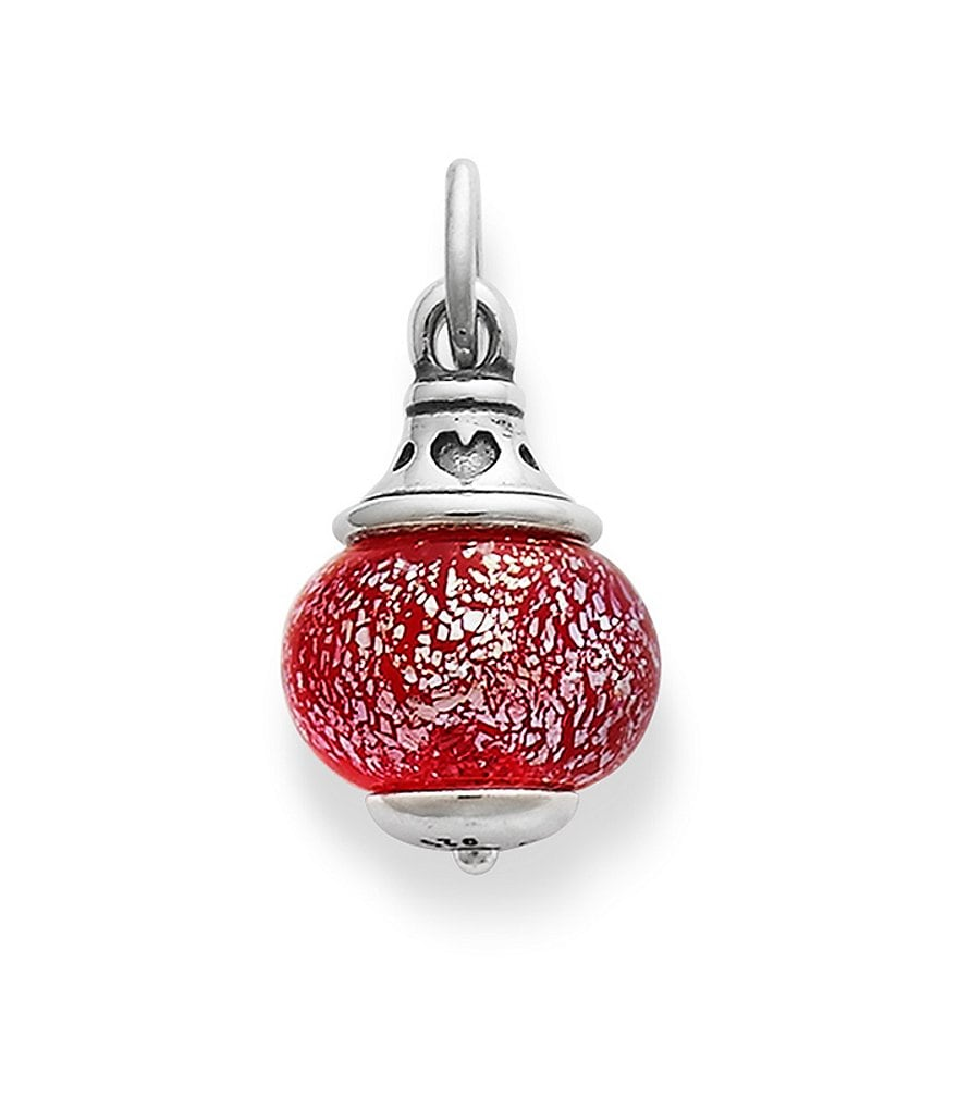 James Avery Love Finial with Frosted Red Charm
