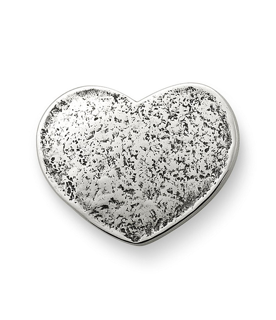 James Avery Sterling Silver Textured Heart Clasp
