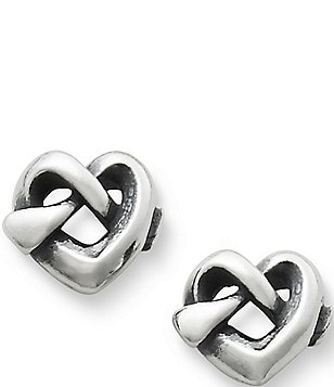 James Avery Heart Knot Stud Sterling Silver Earrings