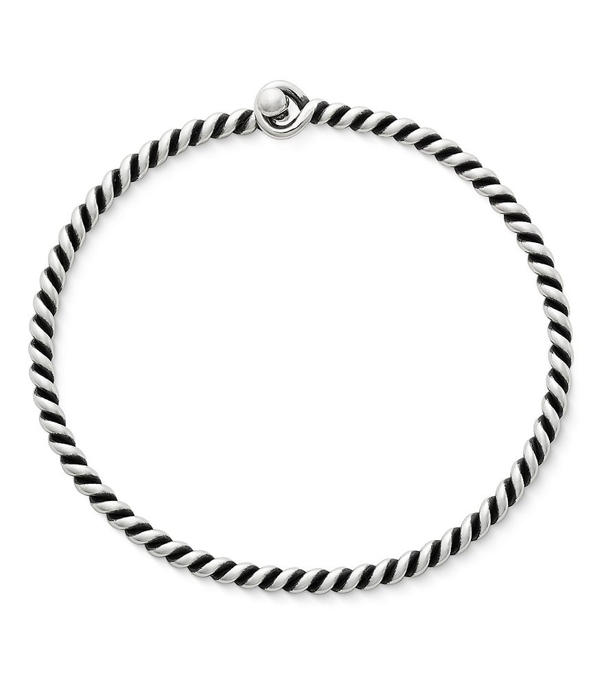 James Avery Sterling Silver Twisted Wire Hook-On Bracelet