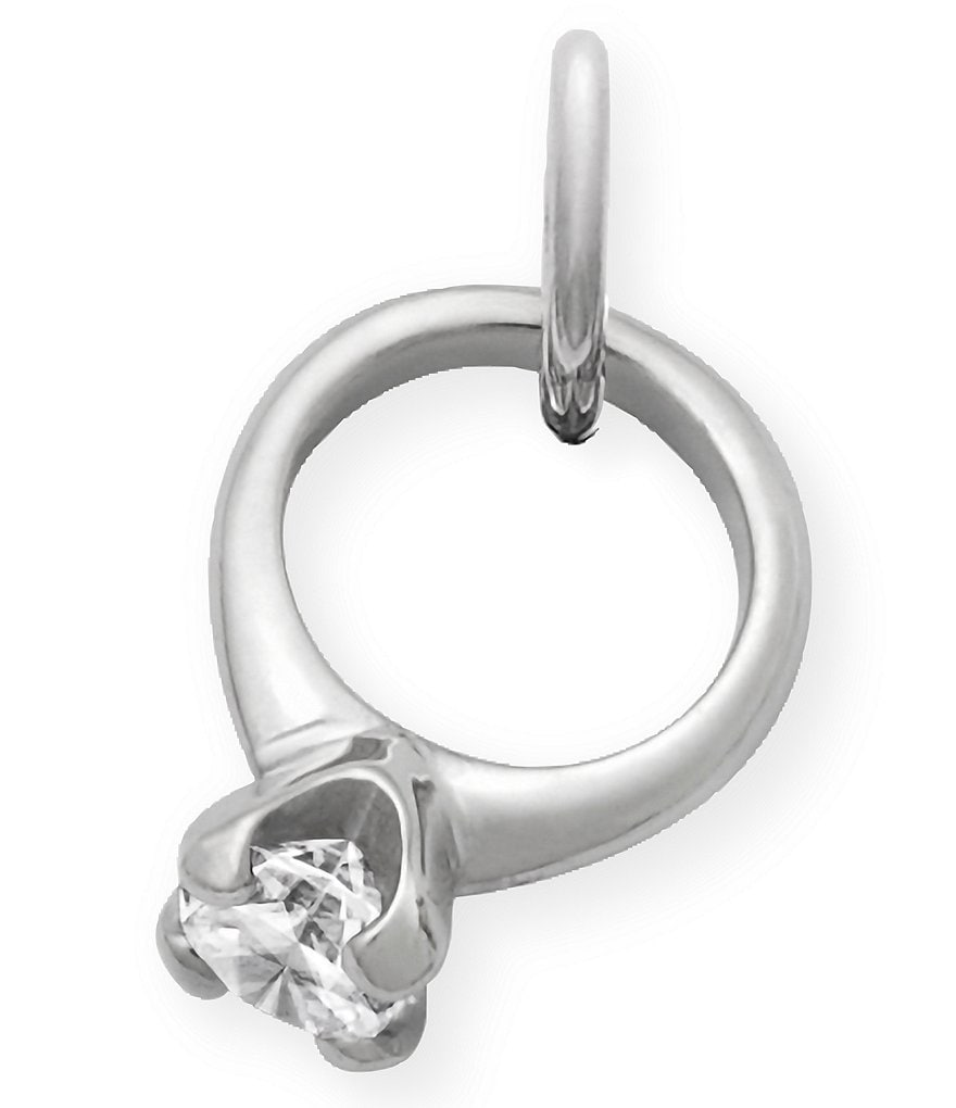 James Avery Engagement Ring Charm with Cubic Zirconia