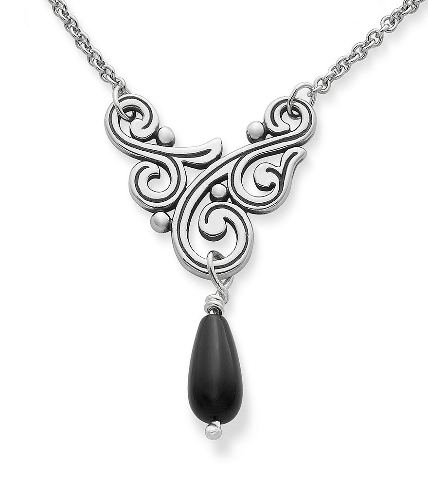 James Avery Sorrento Sterling Silver Necklace with Onyx