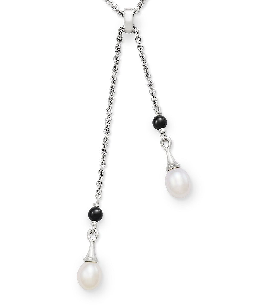 James Avery Cascading Pearls Long Necklace