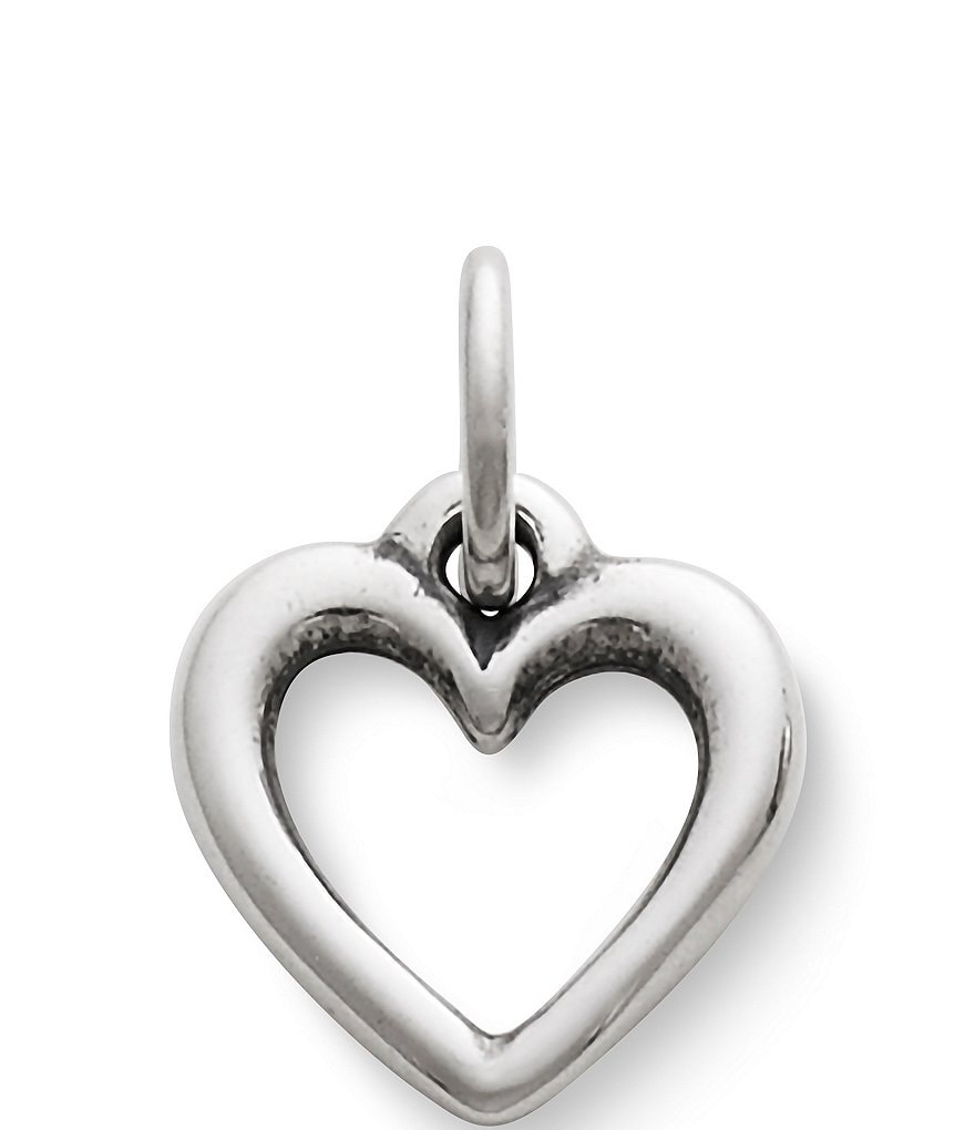 James Avery Sterling Silver Open Wire Heart Charm