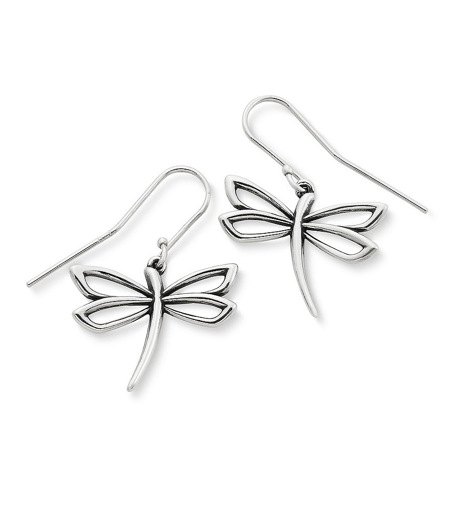 James Avery Dragon Fly Drop Earrings
