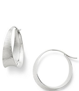 James Avery Valle Hammered Sterling Silver Hoop Earrings