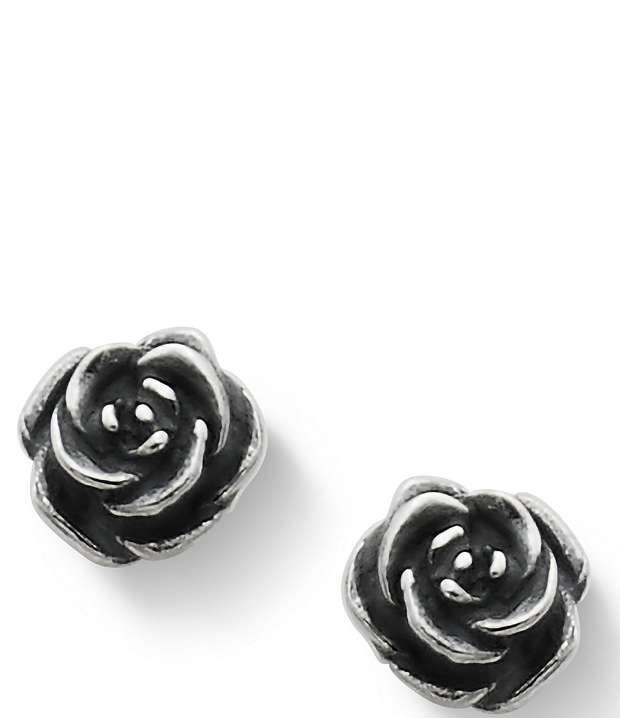 James Avery Rose Sterling Silver Stud Earrings