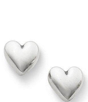 James Avery Solid Heart Sterling Silver Stud Earrings