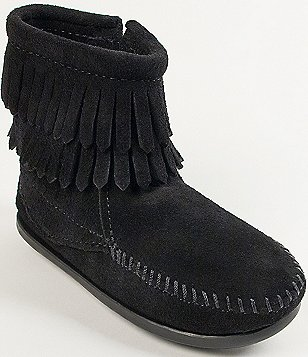 Minnetonka Double Fringe Suede Girls´ Boots