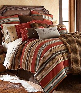 HiEnd Accents Calhoun Serape-Striped Faux-Suede Comforter Set
