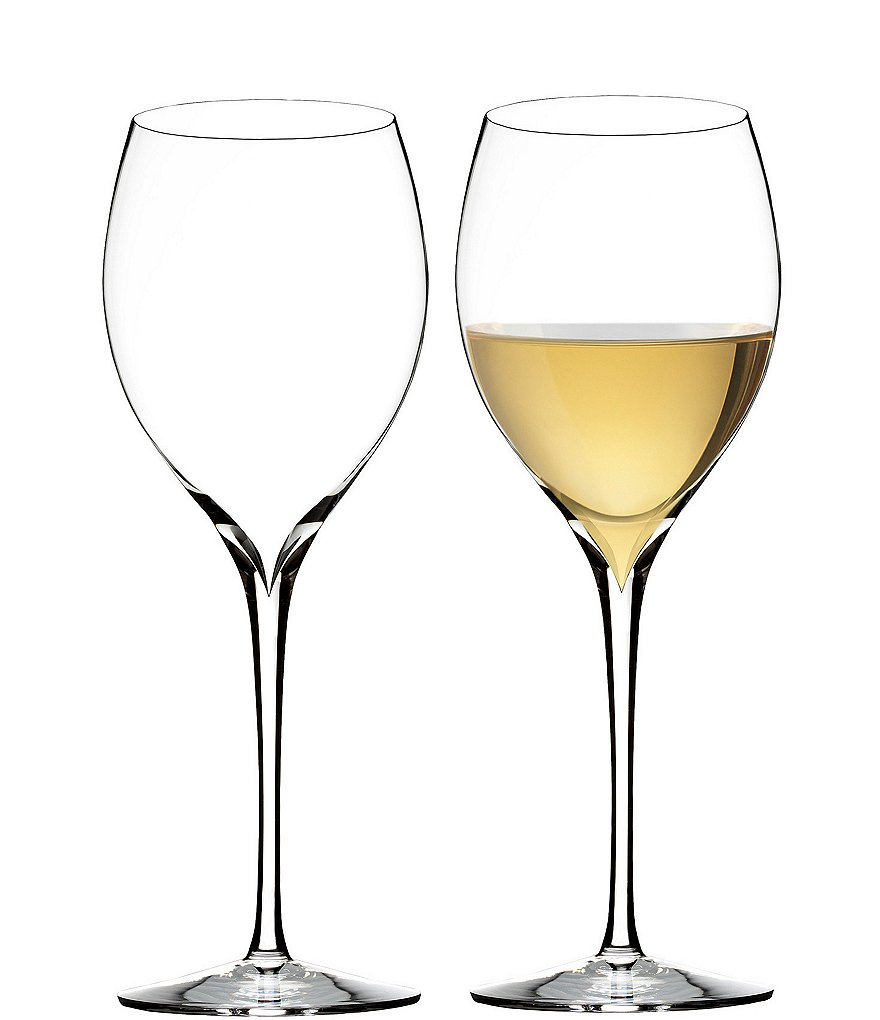 Waterford Elegance Series Crystal Chardonnay Wine Glass Pair