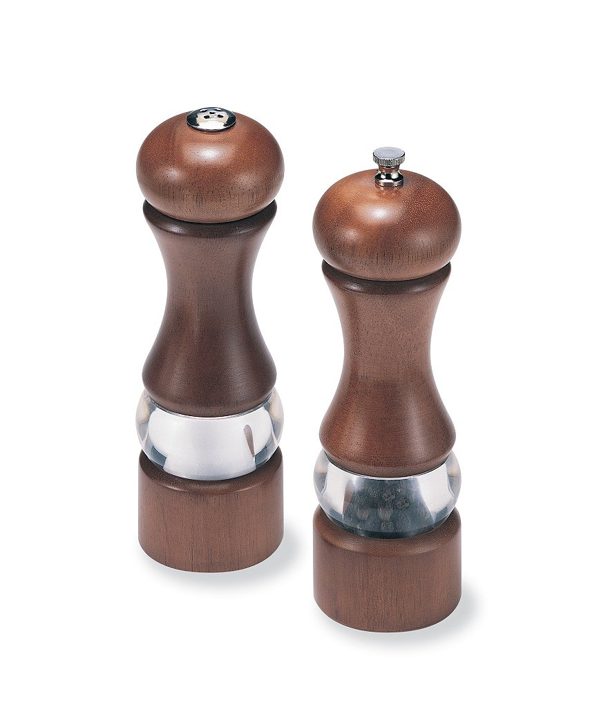 Olde Thompson Dover Walnut Wood Pepper Mill & Salt Shaker Set