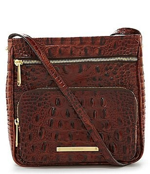 Brahmin Melbourne Collection Tilda Croco-Embossed Cross-Body Bag