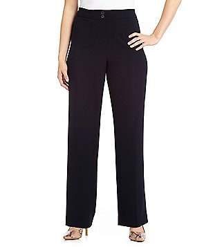 Calvin Klein Plus Classic Fit Straight Leg Pants