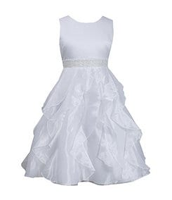 Bonnie Jean 7-12 Cascading-Organza-Skirted Dress