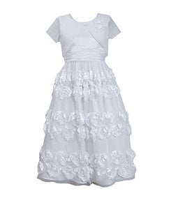 Bonnie Jean 7-12 Bolero & Bonaz-Border Dress