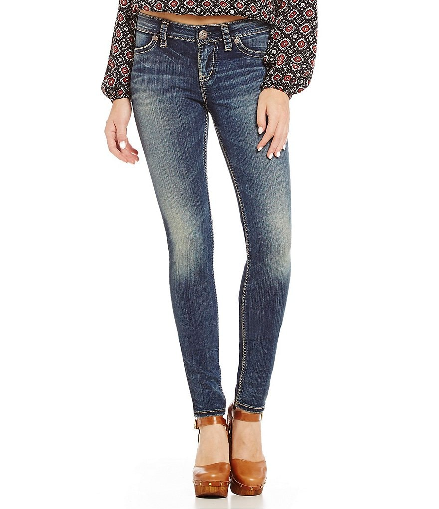 Silver Jeans Co. Suki Mid-Rise Super Skinny Jeans