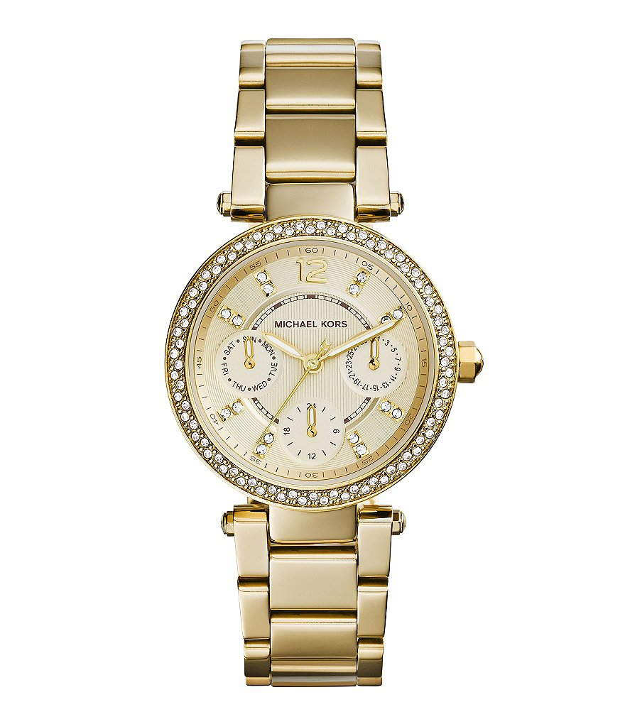 Michael Kors Mini Parker Stainless Steel Chronograph Watch
