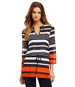 MICHAEL Michael Kors Helsink Striped Georgette Tunic