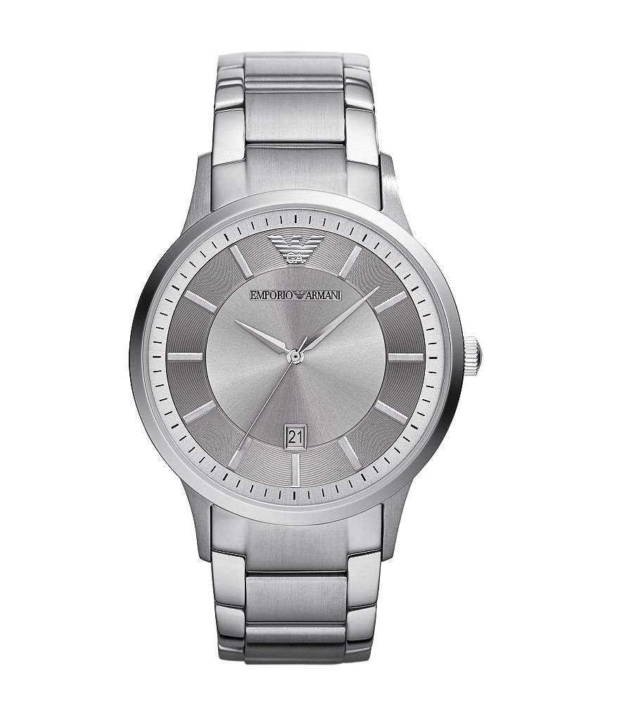 Emporio Armani Men´s Classic 3-Hand Stainless Steel 3 Hand Watch