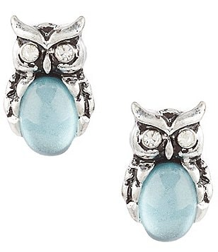 Lonna & Lilly Owl Button Stud Earrings