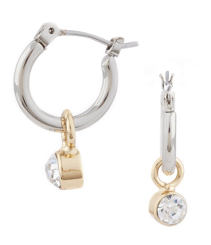 Lonna & Lilly Hoop Stone Drop Earrings