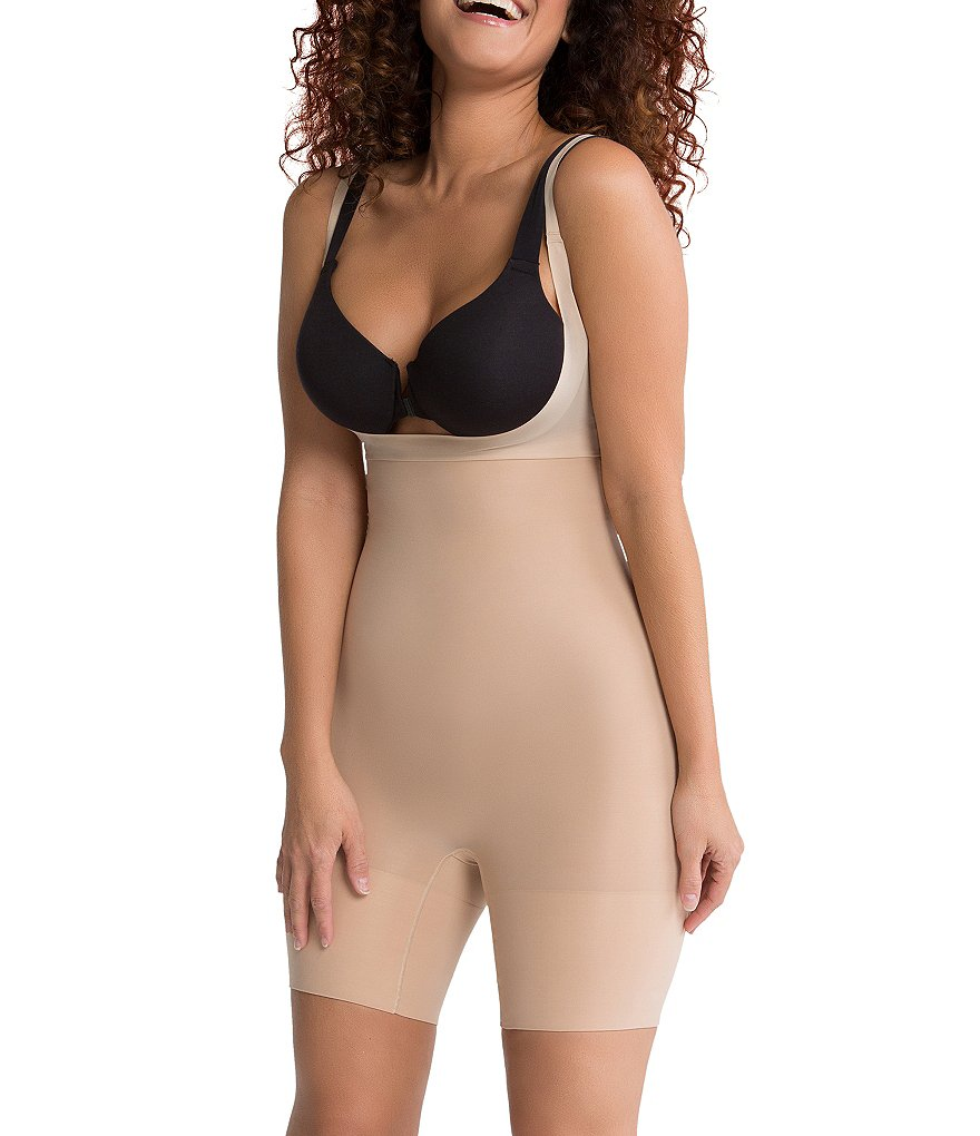 Spanx Shape My Day Open-Bust Mid-Thigh Body Shaper