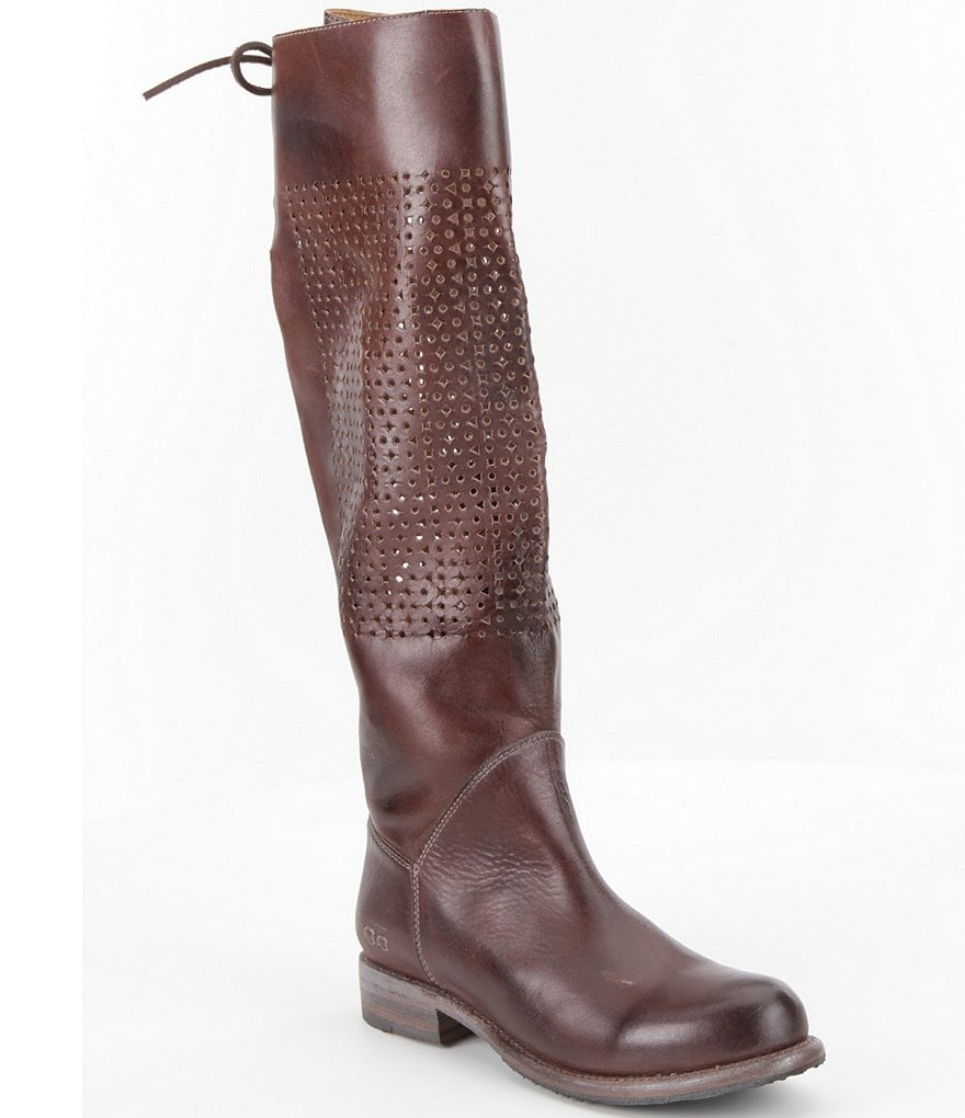 Bed Stu Cambridge Perforated Riding Boots