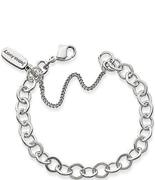 James Avery Forged Sterling Silver Link Charm Bracelet