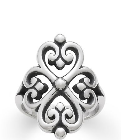 james avery sterling silver adorned hearts ring dillards - James Avery Wedding Rings