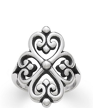 James Avery Sterling Silver Adorned Hearts Ring
