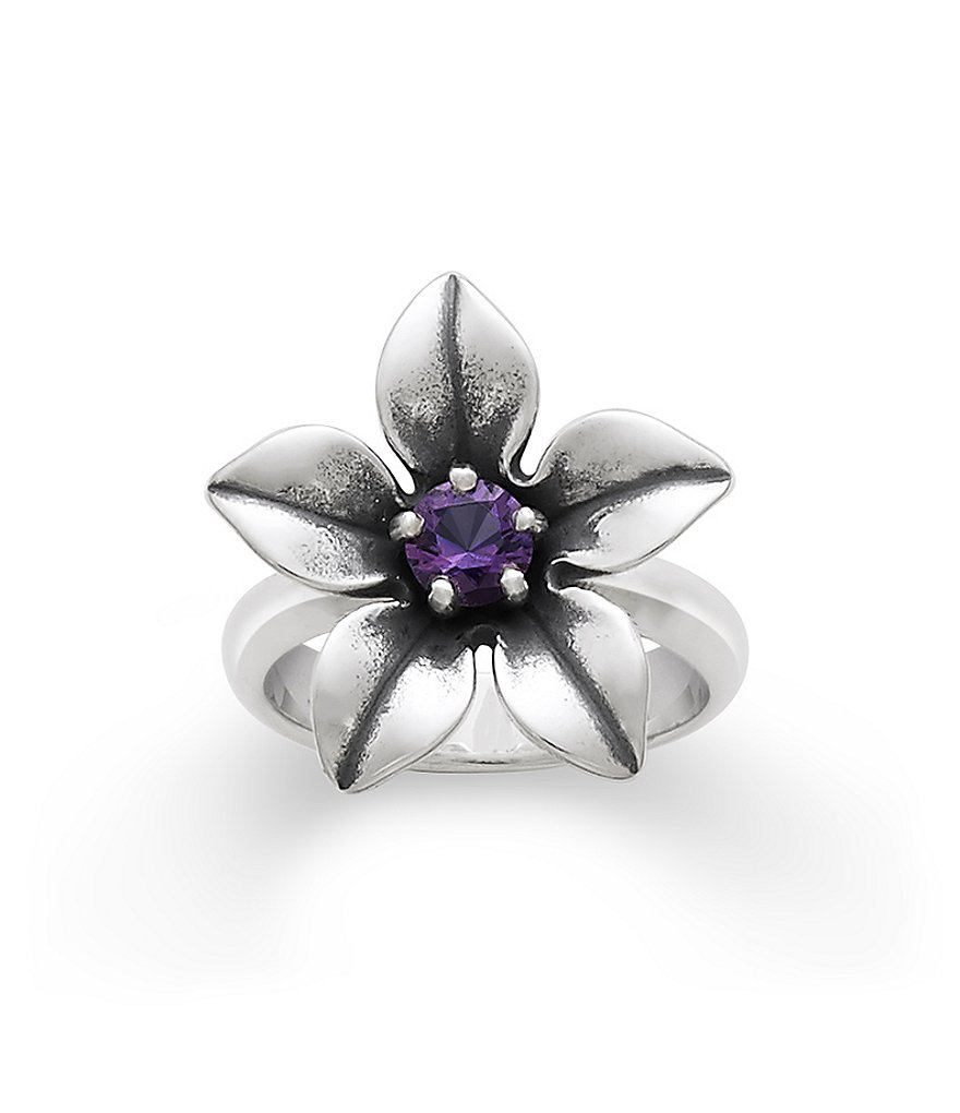 James Avery Flower Ring with Amethyst