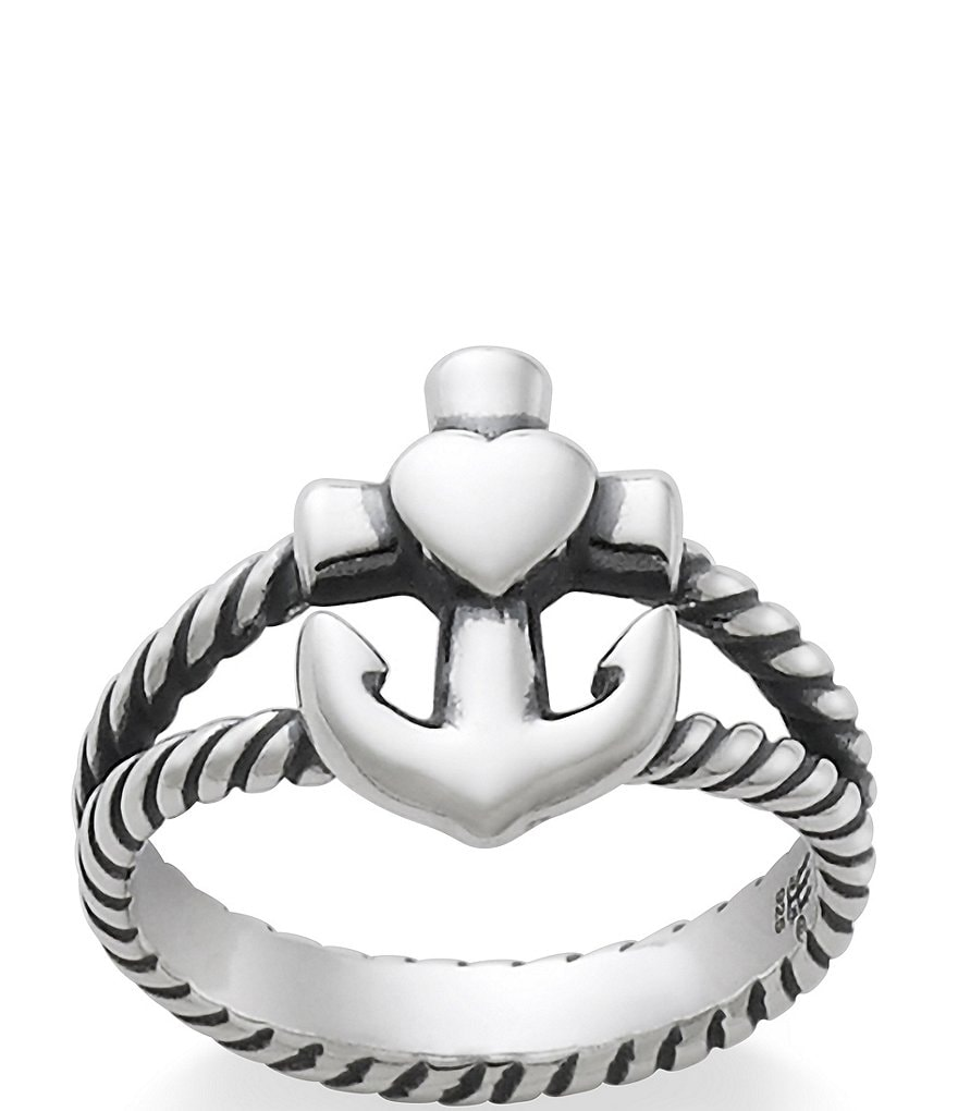 James Avery Sterling Silver Faith, Hope and Love Ring