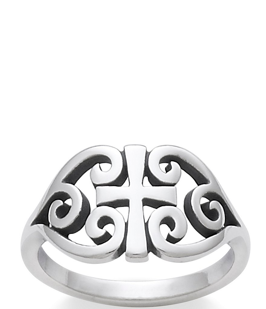 james avery wedding bands James Avery Sterling Silver Scroll Cross Ring