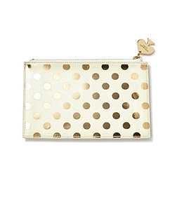kate spade new york gold dot pencil pouch with pencils & accessories