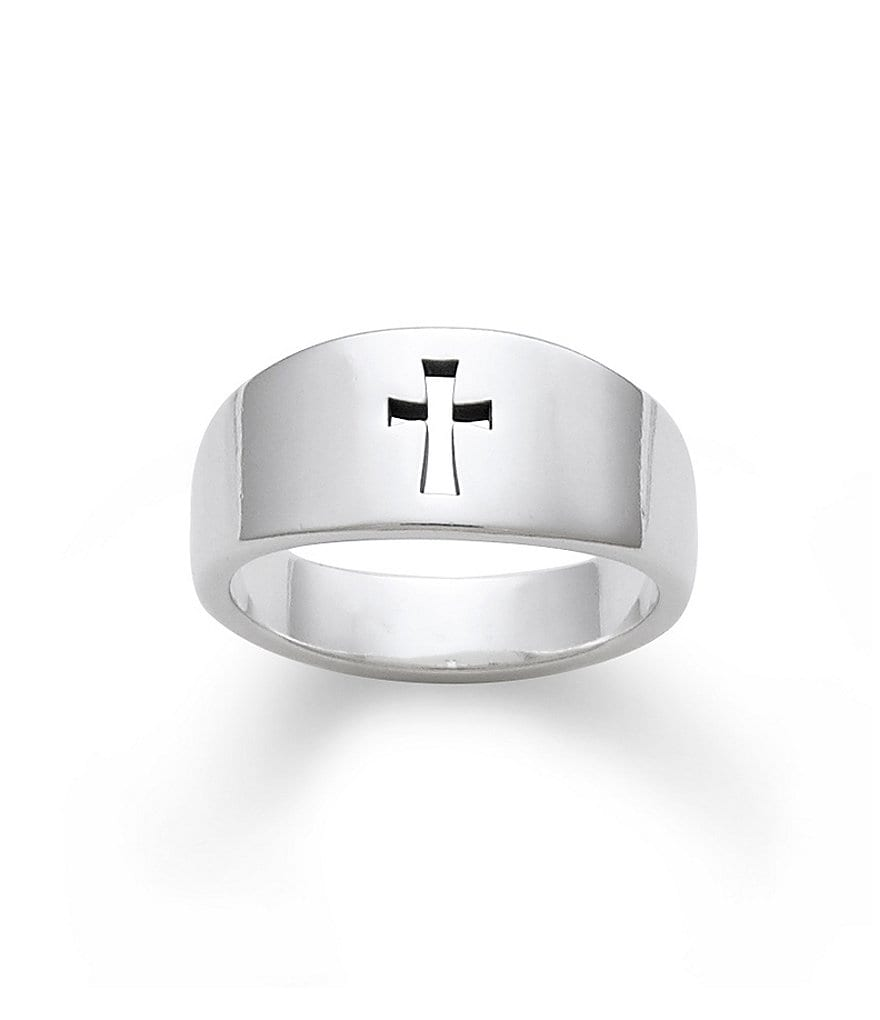 James Avery Narrow Cross Cutout Sterling Silver Ring