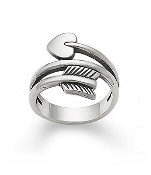James Avery Sterling Silver Arrow & Heart Ring