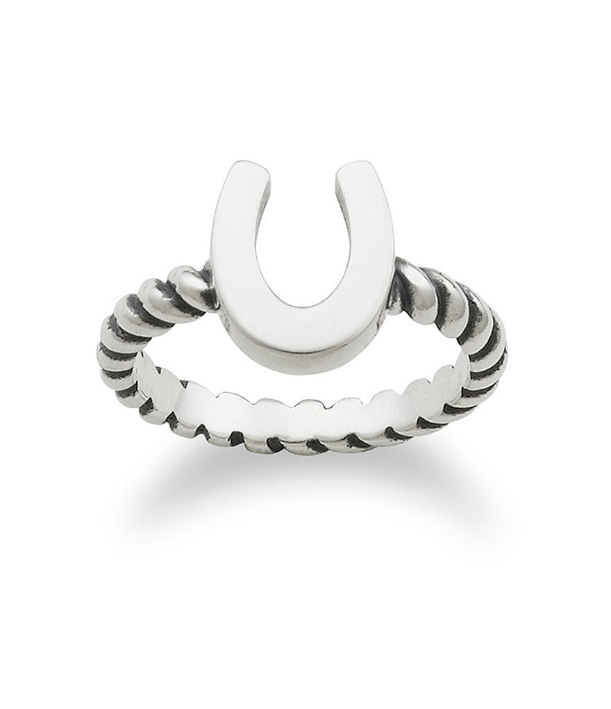 James Avery Horseshoe Twisted Wire Ring