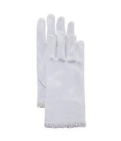 Us Angels 7-16 Iridescent-Trimmed Satin Gloves