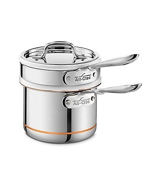 All-Clad Copper Core 2-Qt. Saucepan with Double Boiler Insert & Lid