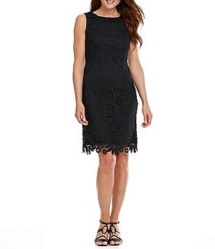 Leslie Fay Daisy Lace Sheath Dress