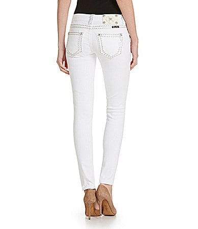 Miss Me Thick-Stitch Skinny Jeans