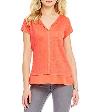 Sanctuary City Mix V-Neck Tee