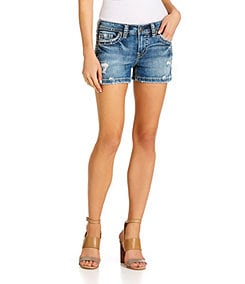 Silver Jeans Co. Aiko Mid-Rise Distressed Shorts